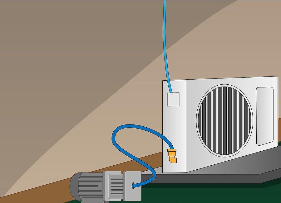 نصب کولر گازی اسپلیت مرحله ۱۱